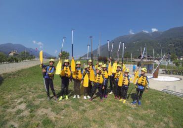 Activity in Val di sole, ieri Rafting